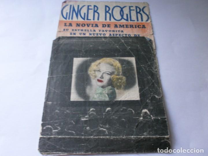 PROGRAMA DOBLE - EN PERSONA - GINGER ROGERS, GEORGE BRENT - IDEAL CINEMA - 1937. (Cine - Folletos de Mano - Comedia)