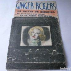 Cine: PROGRAMA DOBLE - EN PERSONA - GINGER ROGERS, GEORGE BRENT - IDEAL CINEMA - 1937.. Lote 157892322