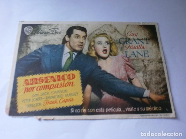 PROGRAMA DE CINE ARSÉNICO POR COMPASIÓN - CARY GRANT - WARNER BROS - PRINCIPAL CINEMA (VÉLEZ-MÁLAGA) (Cine - Folletos de Mano - Comedia)