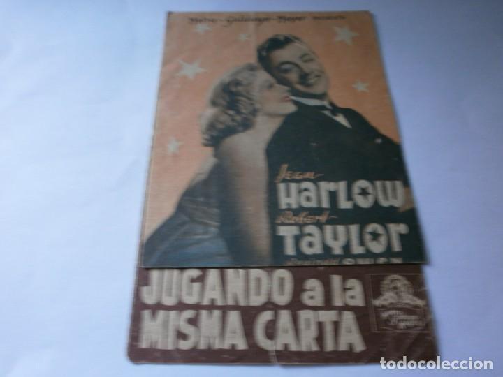 PROGRAMA DOBLE - JUGANDO A LA MISMA CARTA - ROBERT TAYLOR, JEAN HARLOW - MGM - IDEAL CINEMA - 1940. (Cine - Folletos de Mano - Comedia)
