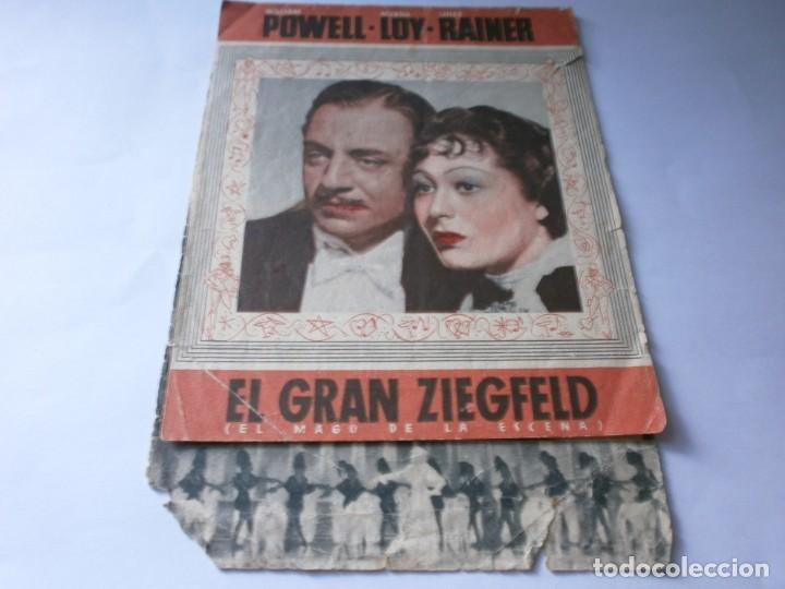 PROGRAMA DOBLE - EL GRAN ZIEGFELD - WILLIAM POWELL, MYRNA LOY - MGM - IDEAL CINEMA - 1937. (Cine - Folletos de Mano - Musicales)