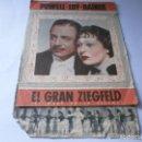 Cine: PROGRAMA DOBLE - EL GRAN ZIEGFELD - WILLIAM POWELL, MYRNA LOY - MGM - IDEAL CINEMA - 1937.. Lote 157906442