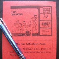 Cine: LOS CHICOS CON LAS CHICAS, LOS BRAVOS, CINE AMEZAGA DE SESTAO. Lote 157916914