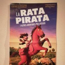 Flyers Publicitaires de films Anciens: CARTEL ORIGINAL CATALAN - LA RATA PIRATA - PIRATAS - DIBUJOS . Lote 157991034