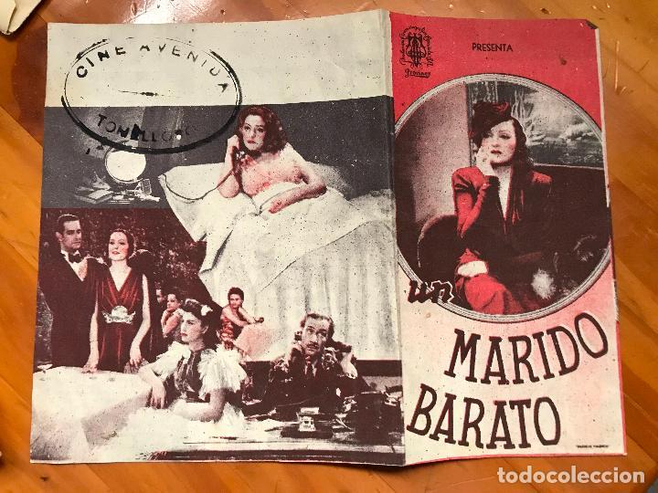 FOLLETO DE MANO DOBLE - UN MARIDO BARATO - LUIS GARCIA ORTEGA. ROSITA MONTAÑA (Cine - Folletos de Mano - Comedia)