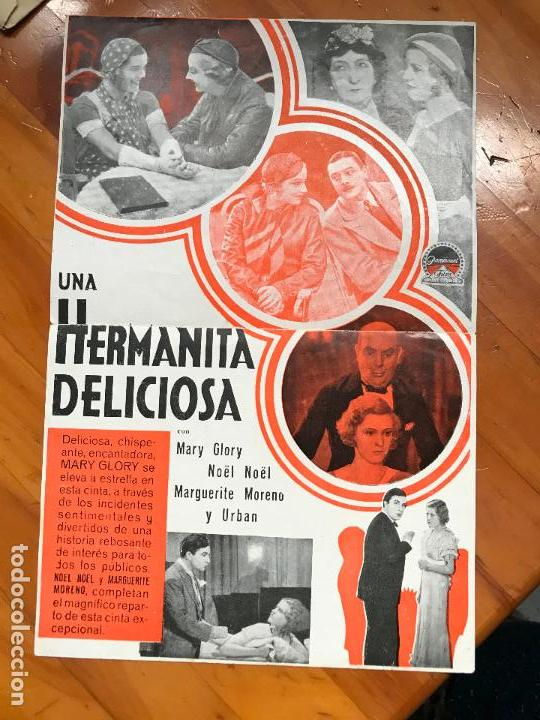 Cine: una hermanita deliciosa folleto de mano original con cine impreso muy buen estado cine iniesta5 - Foto 2 - 158029462