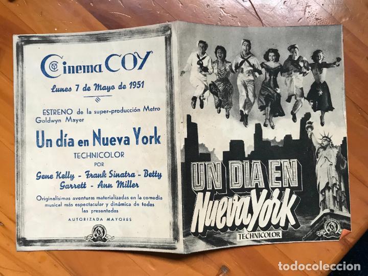 UN DIA EN NUEVA YORK, GENE KELLY, FRANK SINATRA, CINE CAPITOL, FOLLETO MANO CINEMA COY MURCIA (Cine - Folletos de Mano - Comedia)