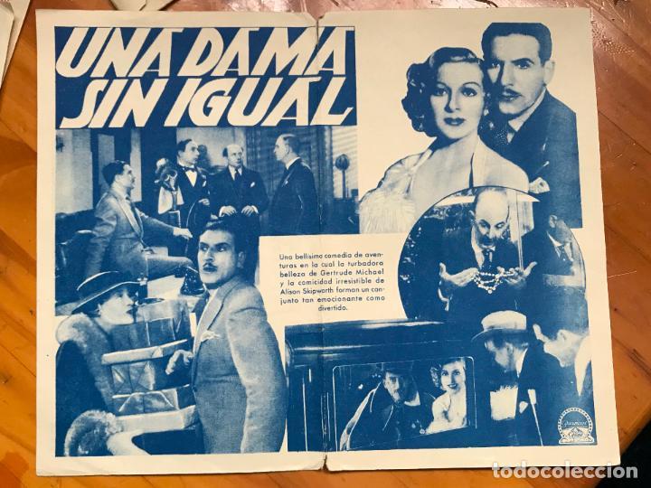 Cine: UNA DAMA SIN IGUAL. PROGRAMA DOBLE. PARAMOUNT. 1935. sin publicidad - Foto 2 - 158046378