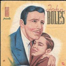 Cine: PROGRAMA DE CINE - AHORA SEREMOS FELICES - JOHN BOLES - 1941 - SIN PUBLICIDAD.. Lote 158139262