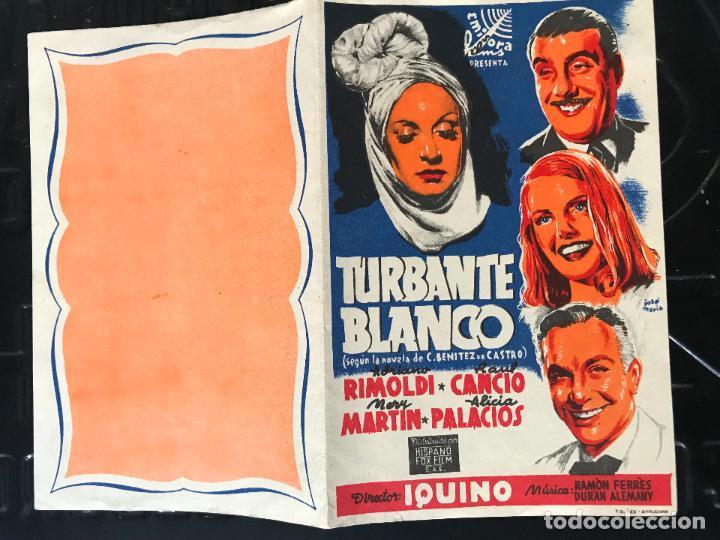PROGRAMA DE CINE. DOBLE. TURBANTE BLANCO. SIN PUBLICIDAD. (Cine - Folletos de Mano - Comedia)