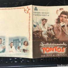 Cine: PROGRAMA DE MANO ORIG DOBLE - DELICIOSAMENTE TONTOS SIN PUBLICIDAD. Lote 158166806