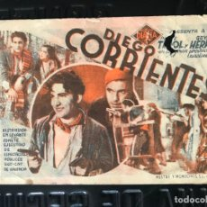 Cine: PROGRAMA DE CINE TARJETA CARTULINA * DIEGO CORRIENTES *SIN PUBLICIDAD. Lote 158168934