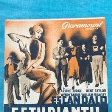 Cine: ESCANDALO ESTUDIANTIL, KENT TAYLOR SIN PUBLICIDAD . Lote 158312114