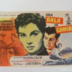 Folhetos de mão de filmes antigos de cinema: PROGRAMA. UNA BALA EN CAMINO. S/P. Lote 158392274