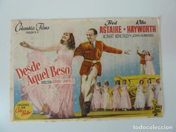 PROGRAMA. DESDE AQUEL BESO. C/P (Cine - Folletos de Mano - Musicales)
