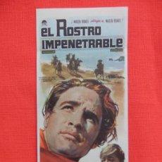 Cine: EL ROSTRO IMPENETRABLE, SENCILLO, MARLON BRANDO KARL MALDEN, C/PUBLI TEATRO ISABEL LA CATOLICA 1962. Lote 158436026