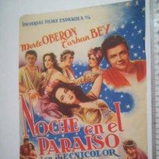 Cine: PROGRAMA NOCHE EN EL PARAÍSO CINE PICAROL (9P). Lote 158472486
