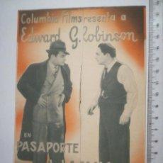 Cine: PROGRAMA TRIPLE PASAPORTE A LA FAMA TEATRE GUIMERÀ Y PICAROL CINEMA 11 Y 12 JULIO 1936 (12P). Lote 158475762