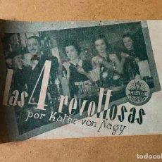 Cine: LAS 4 REVOLTOSAS, IMPECABLE DOBLE 1941, KATHE VON NAGY. Lote 158482790