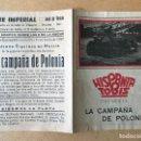 Cine: LA CAMPAÑA DE POLONIA PROGRAMA DOBLE HISPANIA TOBIS DOCUMENTAL ALEMAN SEGUNDA GUERRA MUNDIAL . Lote 158482994