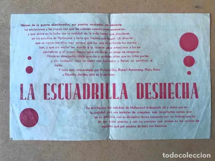 Cine: Antiguo Programa de Cine Doble - La Escuadrilla Deshecha - Richard Dix - Radio Pictures - Año 1933 - Foto 2 - 158504718