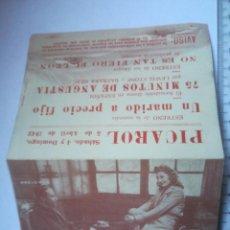 Cine: PROGRAMA DOBLE UN MARIDO A PRECIO FIJO CINE PICAROL 4 Y 5 ABRIL 1942 (16P). Lote 158529990