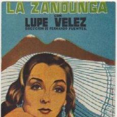 Cine: PROGRAMA DE CINE: LA ZANDUNGA PC-4372. Lote 158537046