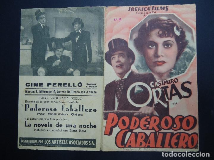 Cine: PODEROSO CABALLERO 1939 CASIMIRO ORTAS DIRECTOR MAX NOSSECK IBERICA FILMS BIEN CONSERVADO - Foto 3 - 158555758