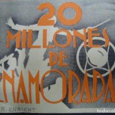 Cine: 20 MILLONES DE ENAMORADAS, TRÍTICO 1935, GINGER ROGERS DICK POWELL, EN BUEN ESTADO. Lote 158565250