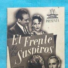 Cine: EL FRENTE DE LOS SUSPIROS PROGRAMA DOBLE PEQUEÑO MARRÓN CIFESA TEATRO CALDERON DE LA BARCA. Lote 158583006