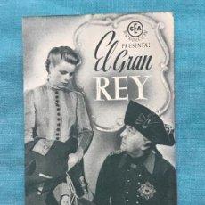 Cine: EL GRAN REY , PROGRAMA DOBLE SIN PUBLICIDAD. Lote 158705822
