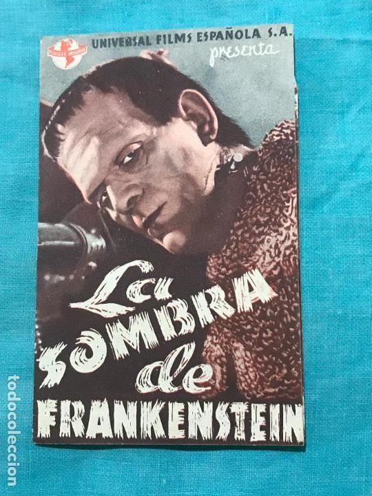PROGRAMA DOBLE...LA SOMBRA DE FRANKENSTEIN. SIN PUBLICIDAD (Cine - Folletos de Mano - Terror)
