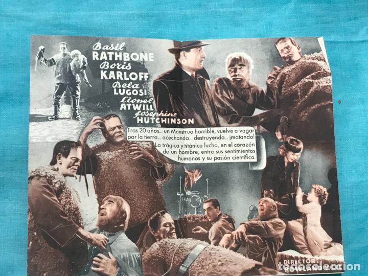 Cine: PROGRAMA DOBLE...LA SOMBRA DE FRANKENSTEIN. sin publicidad - Foto 2 - 158723006