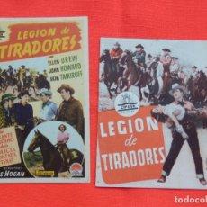 Cine: LEGION DE TIRADORES, DOBLE Y SENCILLO EXCTE. ESTADO, DOBLE C/PUBLI SALA REUS. Lote 158725322