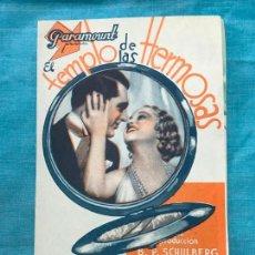 Cine: PROGRAMA EL TEMPLO DE LAS HERMOSAS - GARY GRANT - SIN PUBLICIDAD. Lote 158818154