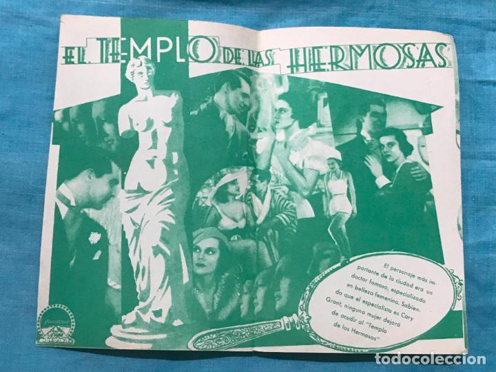 Cine: PROGRAMA EL TEMPLO DE LAS HERMOSAS - GARY GRANT - sin publicidad - Foto 2 - 158818154