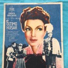 Cine: EL ULTIMO HUSAR, 1 SENCILLO GRANDE, CONCHITA MONTENEGRO LUÍS SAGUI, SIN PUBLICIDAD. Lote 158835078
