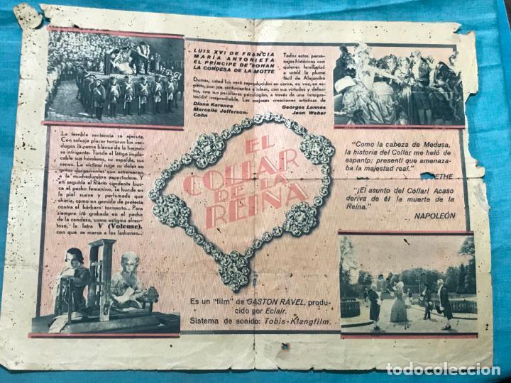Cine: EL COLLAR DE LA REINA PROGRAMA DOBLE CON PUBLICIDAD - Foto 2 - 158846414