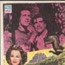 Cine: PROGRAMA DE CINE - LA BESTIA DE LA MONTAÑA - GUY MADISON, PATRICIA MEDINA - PELIMEX - 1956 - S/P. Lote 158907442