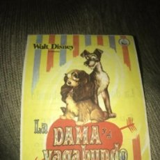 Cine: ANTIGUO PROGRAMA FOLLETO CINE LA DAMA Y EL VAGABUNDO WALT DISNEY. Lote 158968242
