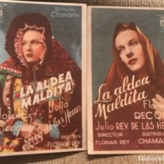 Flyers Publicitaires de films Anciens: ANTIGUOS PROGRAMAS FOLLETOS CINE LA ALDEA MALDITA . Lote 158974274