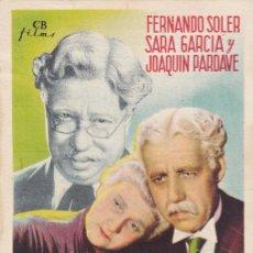 Cine: CUANDO LOS HIJOS SE VAN CON FERNANDO SOLER, SARA GARCÍA, JOAQUÍN PARDAVE CON PUBLICIDAD. Lote 159015038