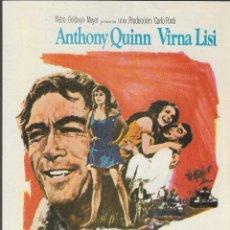 Cine: PROGRAMA DE CINE - LA HORA 25 - ANTHONY QUINN, VIRNA LISI - MGM - 1967 - SIN PUBLICIDAD.. Lote 159027318