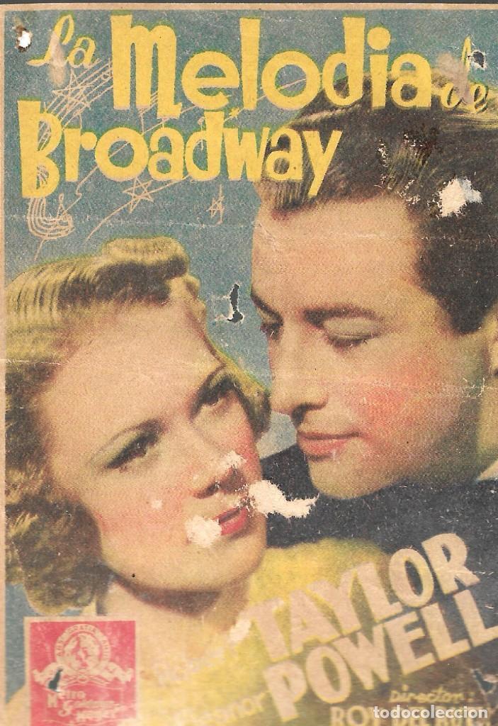PROGRAMA DE CINE - LA MELODÍA DE BROADWAY - ROBERT TAYLOR, ELEANOR POWELL - MGM - 1938 - S/P. (Cine - Folletos de Mano - Musicales)