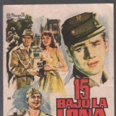 Flyers Publicitaires de films Anciens: 15 BAJO LA LONA - PROGRAMA SENCILLO CON PUBLICIDAD RF-2240 BUEN ESTADO. Lote 159179806