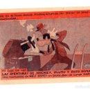 Cine: FOLLETO LOCAL DIBUJOS WALT DISNEY. LAS AVENTURAS DE MICKEY, PLUTO Y PATO DONALD. AÑOS 50. Lote 159355988