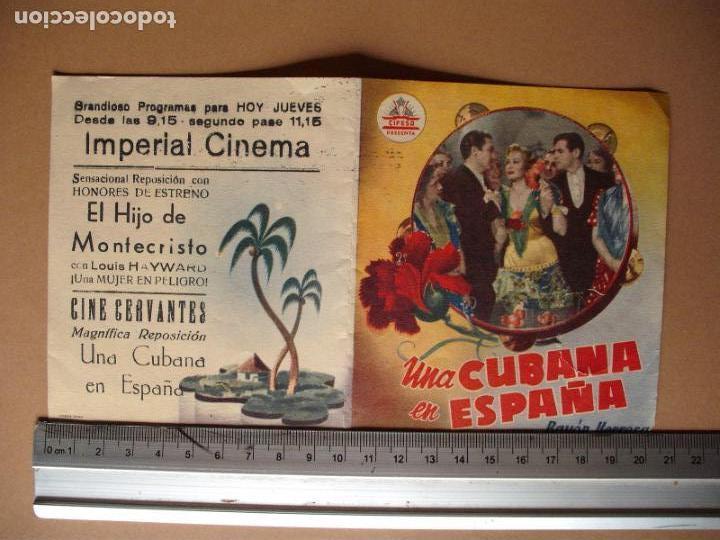UNA CUBANA EN ESPAÑA AÑO 1951. C/P (Cine - Folletos de Mano - Comedia)