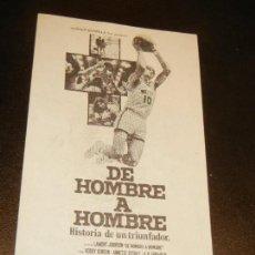 Cine: VALE DESCUENTO 50 PTAS - CINE BALMES BARCELONA - DE HOMBRE A HOMBRE (1977). Lote 159381614