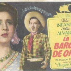 Kino - PROGRAMA DE CINE - LA BARCA DE ORO - PEDRO INFANTE, SOFIA ALVAREZ - 1947 - SIN PUBLICIDAD. - 159471962
