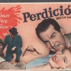 Cine: PERDICION - PROGRAMA SENCILLO MERCURIO CON PUBLICIDAD RF-2262 , PERFECTO ESTADO. Lote 159476366